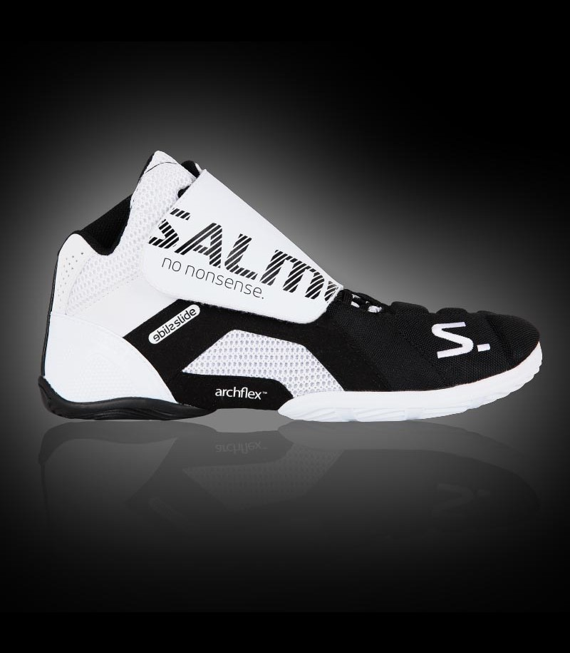 Salming Goalie Schuh Slide 5 white/black